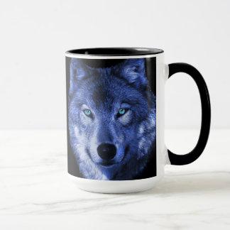 wolf blue mug