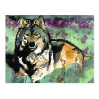Wolf by Paula Atwell Postcard