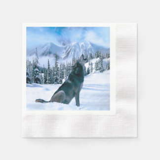 Wolf Call Disposable Napkins