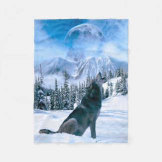 Wolf Call Fleece Blanket