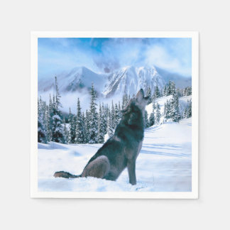 Wolf Call Paper Napkin