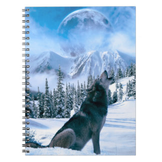 Wolf Call Spiral Notebook