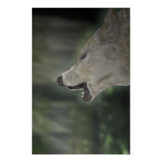 Wolf (Calling to friends) Poster