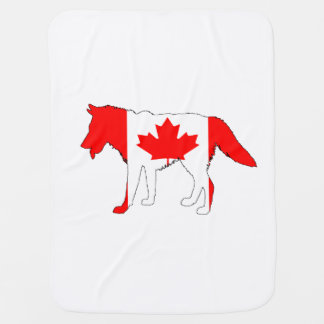 Wolf Canada Receiving Blankets