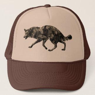 Wolf Canine Hat Lupus Vintage Art M. E. Lloyd Cap