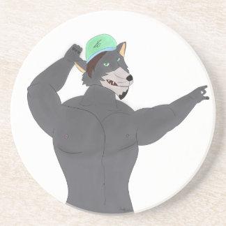 WOLF CAPE BELOW KNELL/GLASS WOLF CAP COASTER