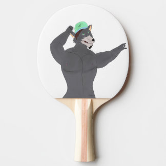 WOLF CAPE COUNTS TENNIS RACKET WOLF CAP PING PONG PADDLE
