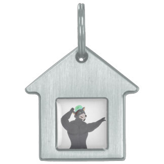WOLF CAPE DOMESTIC ANIMAL MEDALS/WOLF CAP PET ID TAG