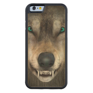 Wolf Carved Maple iPhone 6 Bumper Case