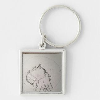 Wolf chain keychain