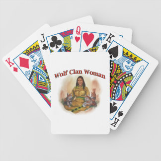 Wolf Clan Woman Bicycle Playing Cards
