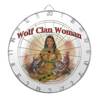Wolf Clan Woman Dartboard