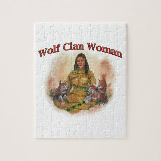 Wolf Clan Woman Jigsaw Puzzle