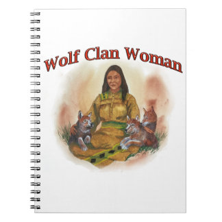 Wolf Clan Woman Notebook