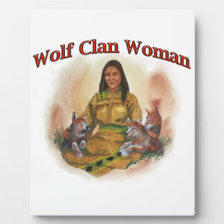 Wolf Clan Woman Plaque
