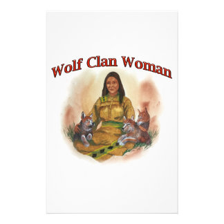 Wolf Clan Woman Stationery