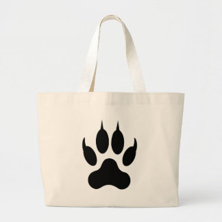 wolf claw large tote bag
