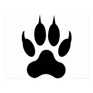 wolf claw postcard