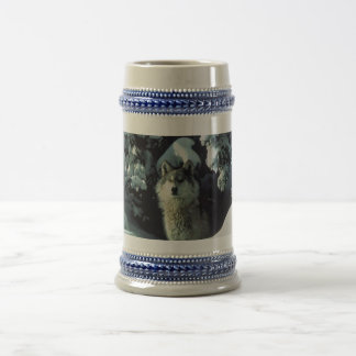 Wolf Coming Out Of The Woods Mug