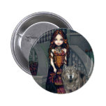 """Wolf Countess"" Button"