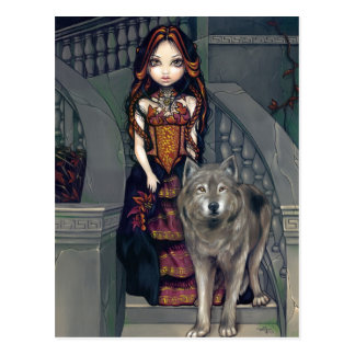"""Wolf Countess"" Postcard"