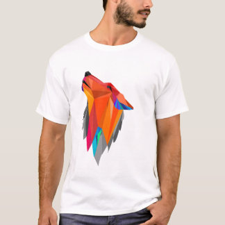 Wolf Craft Geometric hand made design for t-shirt