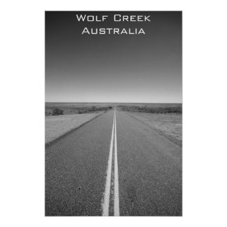 Wolf Creek Australia - Black and White - Poster