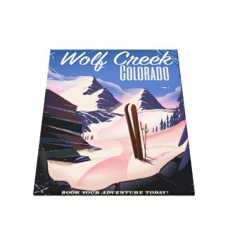 Wolf Creek Colorado Ski poster Canvas Print