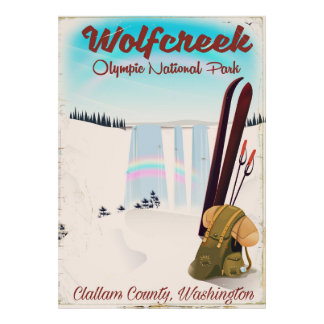 Wolf Creek Olympic National Park Travel poster. Poster