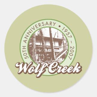 Wolf Creek Round Sticker