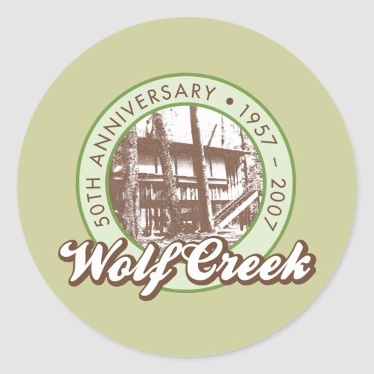 Wolf Creek Round Sticker