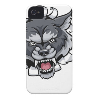 Wolf Cricket Mascot Breaking Background iPhone 4 Cover
