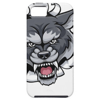 Wolf Cricket Mascot Breaking Background iPhone 5 Case