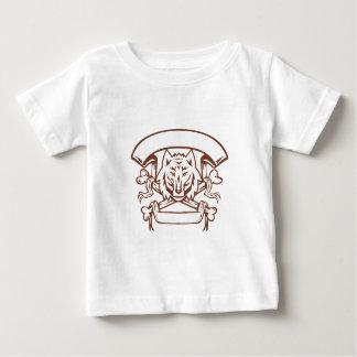 Wolf Cross Bones Banner Retro Baby T-Shirt