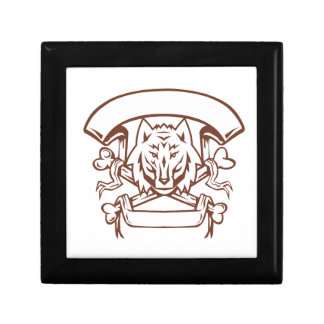 Wolf Cross Bones Banner Retro Gift Box