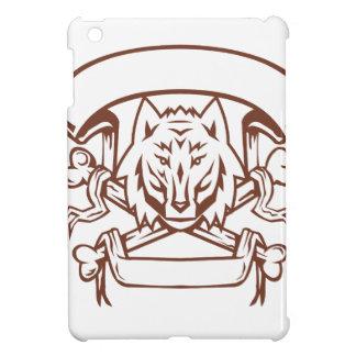 Wolf Cross Bones Banner Retro iPad Mini Cases