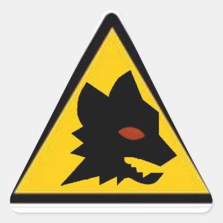 Wolf Crossing Triangle Sticker