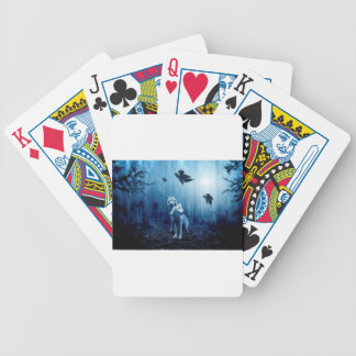 Wolf Dark Autumn Forest Bicycle Playing Cards