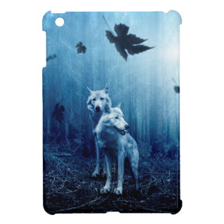Wolf Dark Autumn Forest iPad Mini Cover