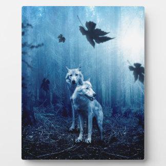 Wolf Dark Autumn Forest Plaque