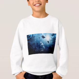 Wolf Dark Autumn Forest Sweatshirt