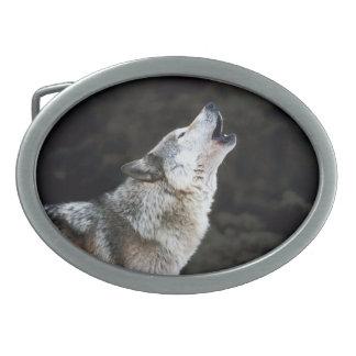 Wolf Design Belt Buckle