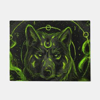 Wolf design graphic cool anime look doormat