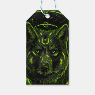 Wolf design graphic cool anime look gift tags