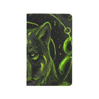 Wolf design graphic cool anime look journal