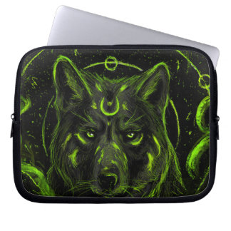 Wolf design graphic cool anime look laptop sleeve