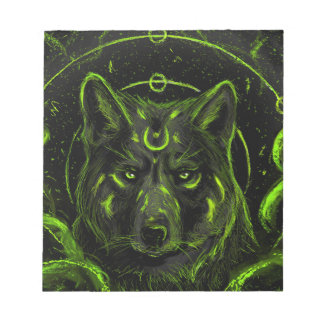 Wolf design graphic cool anime look notepad