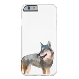 Wolf Double Exposure Barely There iPhone 6 Case