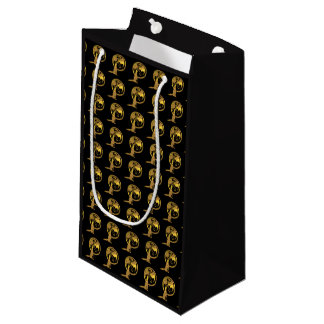 Wolf & Dragon Gold black gift bag (many creatures)