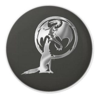 Wolf & Dragon Silver ceramic kob Ceramic Knob
